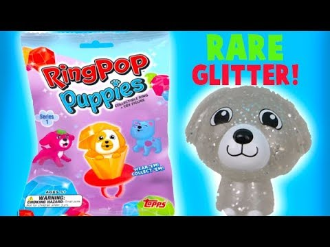 Ring Pop Puppies Blind Bags! I Find a Glittery Rare Puppy!
