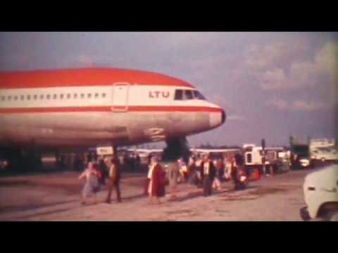 LTU TriStar flight to Jamaica 1984  - Supere 8 footage