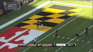 Florida State Vs Maryland Football Highlights - 2012