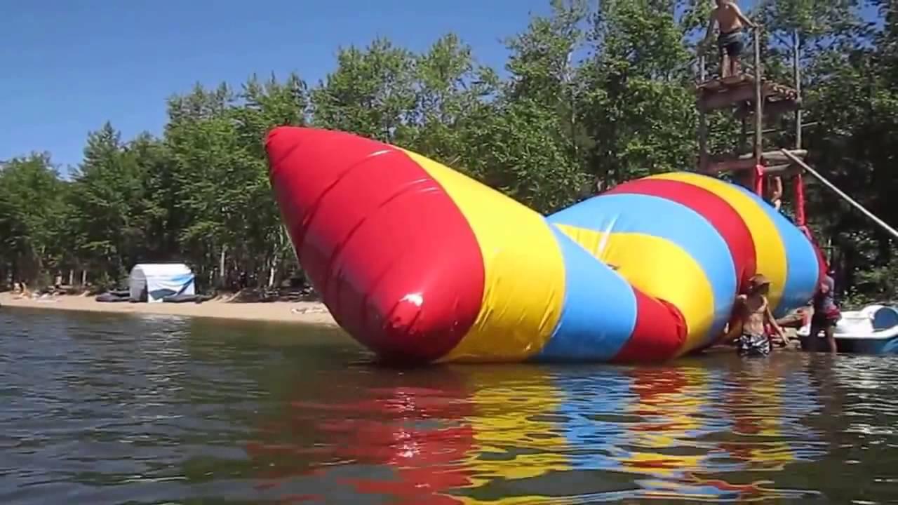 Водный батут – один из самых популярных водных аттракционов. Надувные аттракционы вектор купить надувной аттракцион батут горку в.