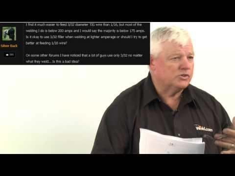 TIG Filler Material: 3/32 vs 1/16 | Weld.com Forum