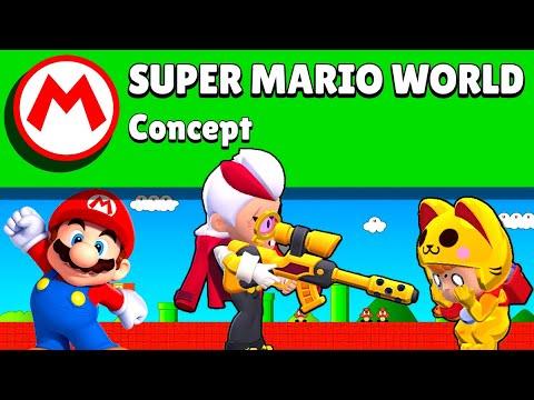 ENORME 5 vs 5 en concept MAP SUPER MARIO WORLD sur Brawl sur Brawl Stars (mini games)