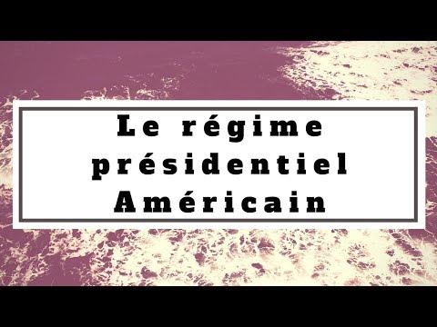 Droit constitutionnel: Le régime présidentiel Américain