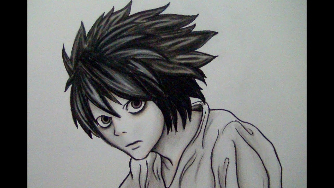 Dibujos Para Colorear De Death Note: COMO COLOREAR A L De DEATH NOTE (TUTORIAL LARGO, PASO A