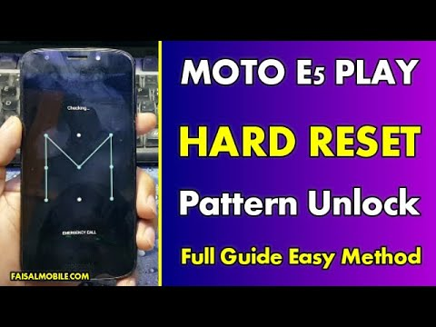How to Hard Reset Moto E5 Play Pattern Unlock (Fast Method) 100% Done