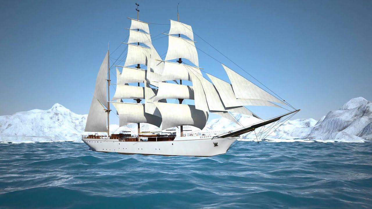 Sailing Ship Animation - YouTube