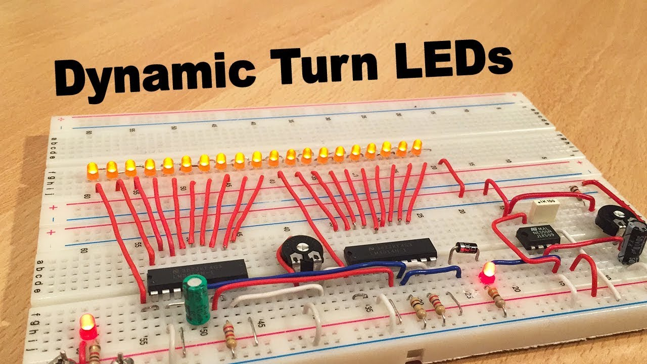 Audi Style Dynamic Turn Signal Led Lm3914 Ne555 By Ste Youtube Special Function Timer Circuits Lm555 Electronicprojects Electronic