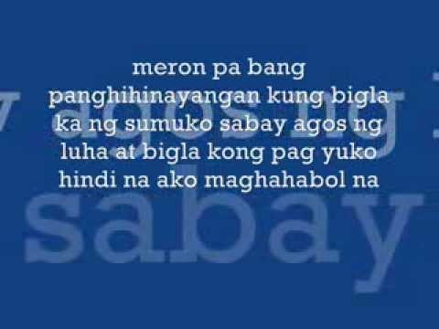yakap full version lyrics curse one music