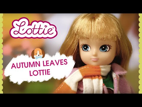 Lottie dolls: Autumn Leaves Lottie Doll by Arklu and Biscuit the Beagle Dog