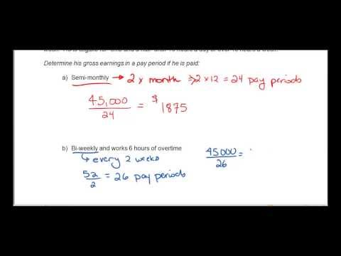 Math 1450 - Chapter 1.4 Calculating Gross Pay