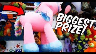 The Biggest Carnival Game Prize Win EVER On BlockBuster! ArcadeJackpotPro