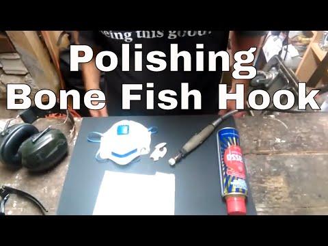 Polishing A Bone Carving Fish Hook