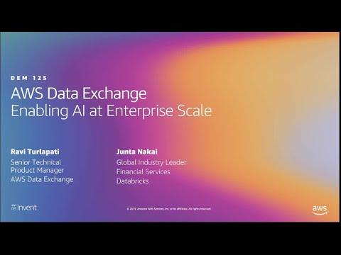 AWS re:Invent 2019: Enabling AI at enterprise scale  (DEM125)