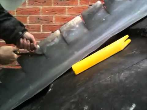 Lead Step Flashing Formed On The Roof Youtube