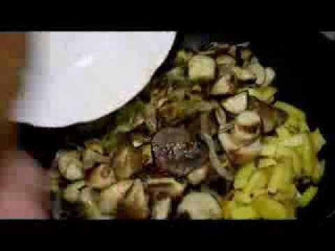 Белые грибы жаренные с картофелем