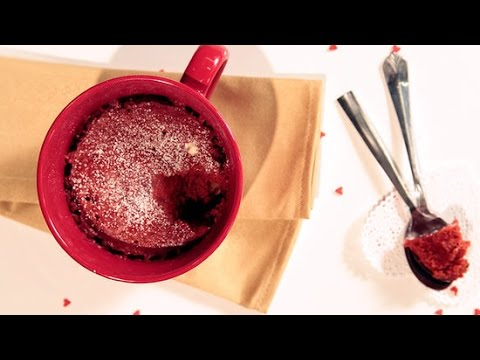 Red Velvet Microwave Mug Cake For 2