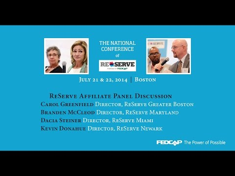 ReServe National Conference - ReServe Affiliate Panel Discussion