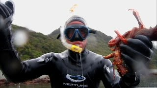 Ben Fogle Freediving for Crayfish - Where the Wild Men Are with Ben Fogle - BBC