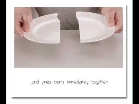 How to fix a porcelain plate? UHU porcelain - UHU Porzellan - English text