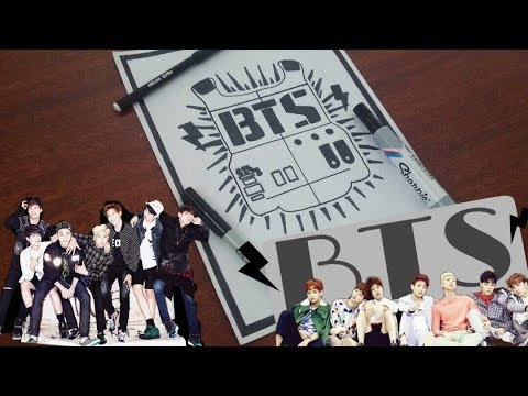 Como dibujo el Logo de BTS| How to draw BTS|SpeedDrawing| LarryArt