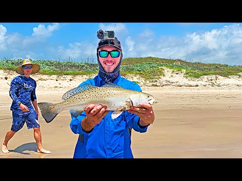 Secret To Surf Fishing The Texas Coast For A Limit Of Speckled Trout
