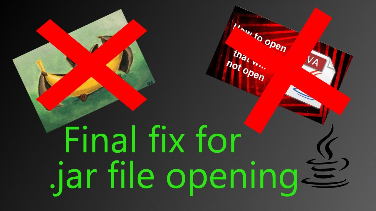 Final fix for opening  jar files on Windows 10