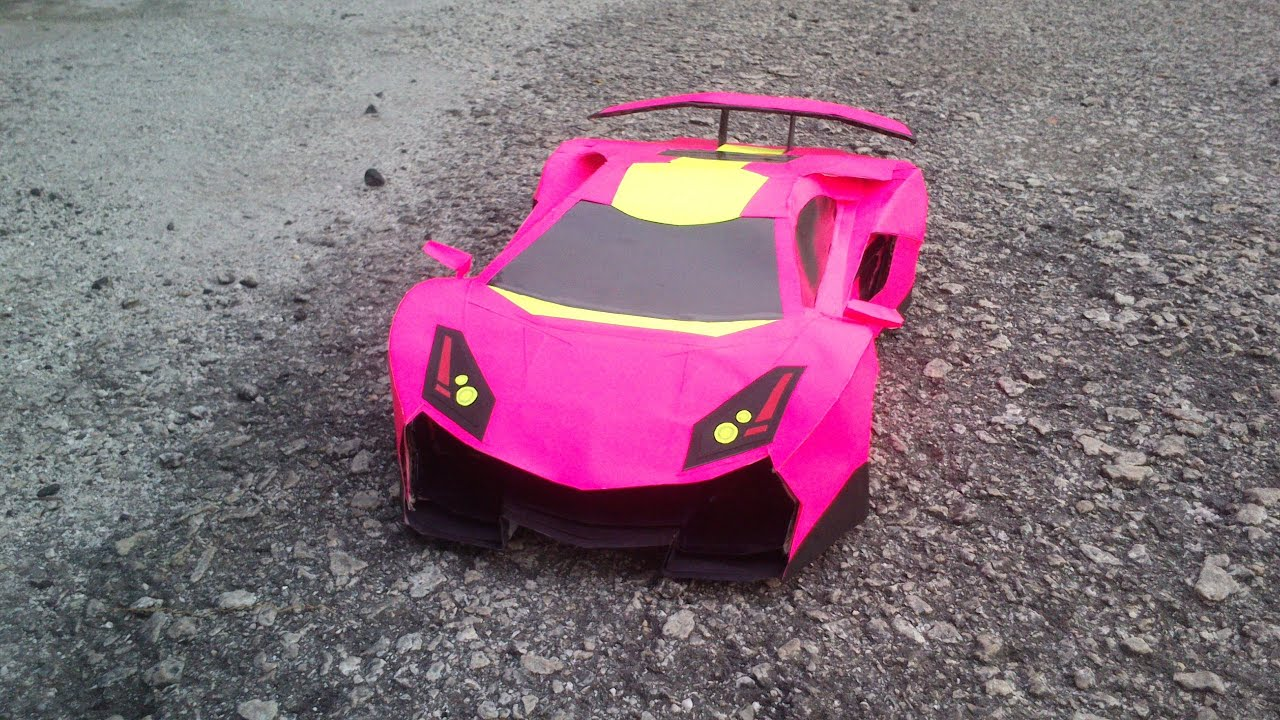 How To Make Paper Car Lamborghini