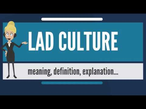 What is LAD CULTURE? What does LAD CULTURE mean? LAD CULTURE meaning, definition & explanation