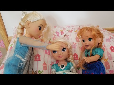 Elsia's Sick Day ! Anna and Elsa Toddler Videos - Doctors Sick Visit