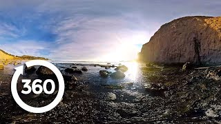 Pacific Sunset: Half Moon Bay (360 Video)
