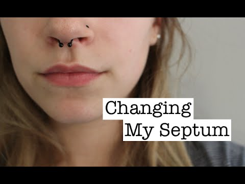 Changing My Septum Piercing Youtube