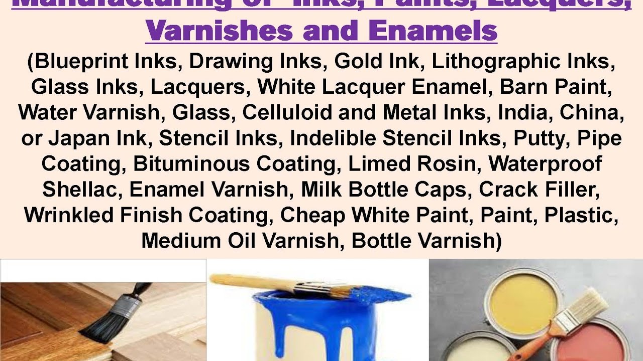 Composition and Formulas for Manufacturing of Inks, Paints ...