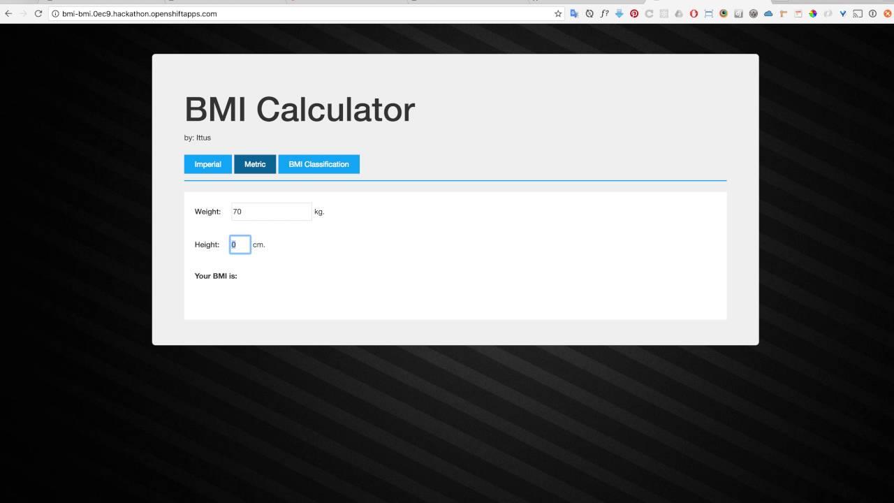 BMI Calculator | Devpost