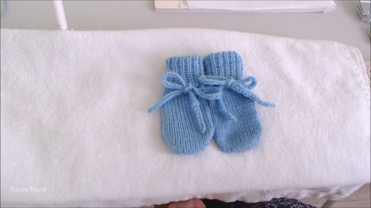 dfc6db559db Tricoter des moufles pour bébé taille 0 3 mois - YouTube