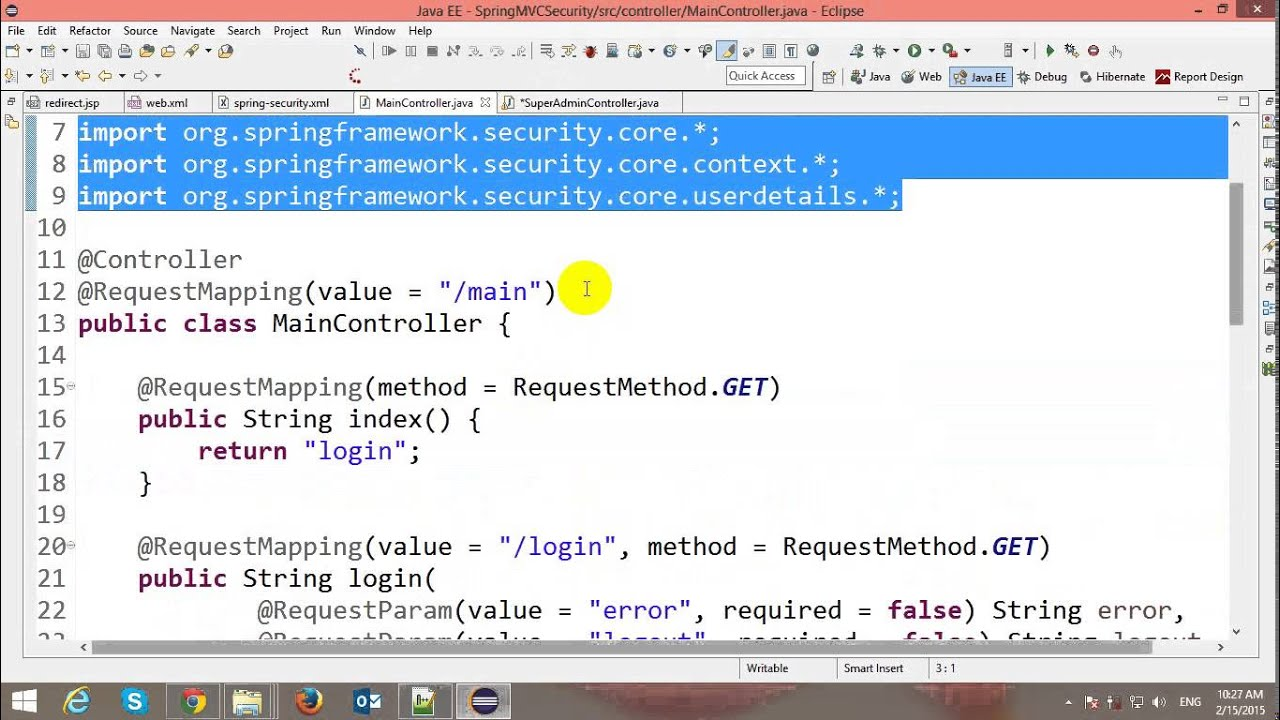 Authentication and authorization in spring mvc security youtube authentication and authorization in spring mvc security baditri Choice Image