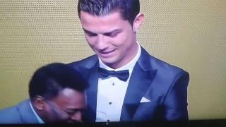 Pallone d'oro 2013 - Premiazione Cristiano Ronaldo