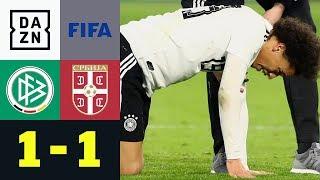 Horror-Foul an Leroy Sane überschattet DFB-Remis: Deutschland - Serbien 1:1 | Testspiele | DAZN