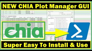 NEW CHIA Plot Manager GUI - Easy To Install \u0026 Use - PSChiaPlotter Tutorial