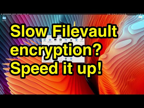 How to increase performance of filevault to encrypt harddrive on Mac