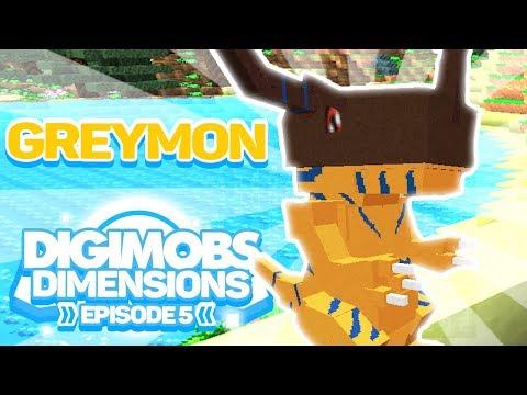 Minecraft Digimobs Dimensions - Episode 5 - Digivolving to Greymon!! - Digimon SMP Mod