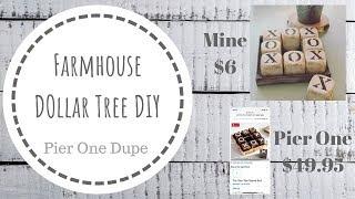 DOLLAR TREE DIY  |  Farmhouse Tic Tac Toe  |  Pier One Dupe $49 VS $6