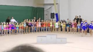 Награждение. Открытое первенство по художественной гимнастике Верхняя Пышма 13 декабря 2014 г.