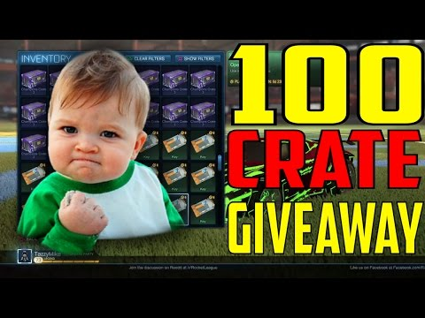 100 FREE C3 ITEMS?!? HOLY TITS!!! | Rocket League Crate Giveaway