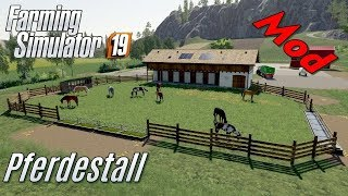 LS19 - Pferde-Stall mit Gebäude - Mod Vorstellung - mein eigener Mod