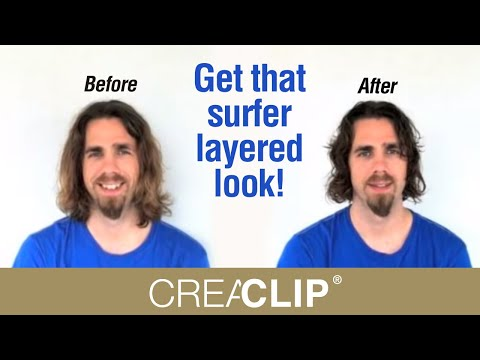 How To Cut Menu0027s Layer Haircut Long Hair  Get That Surfer Layered Look!
