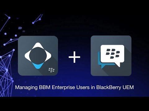 Managing BBM Enterprise Users in BlackBerry UEM