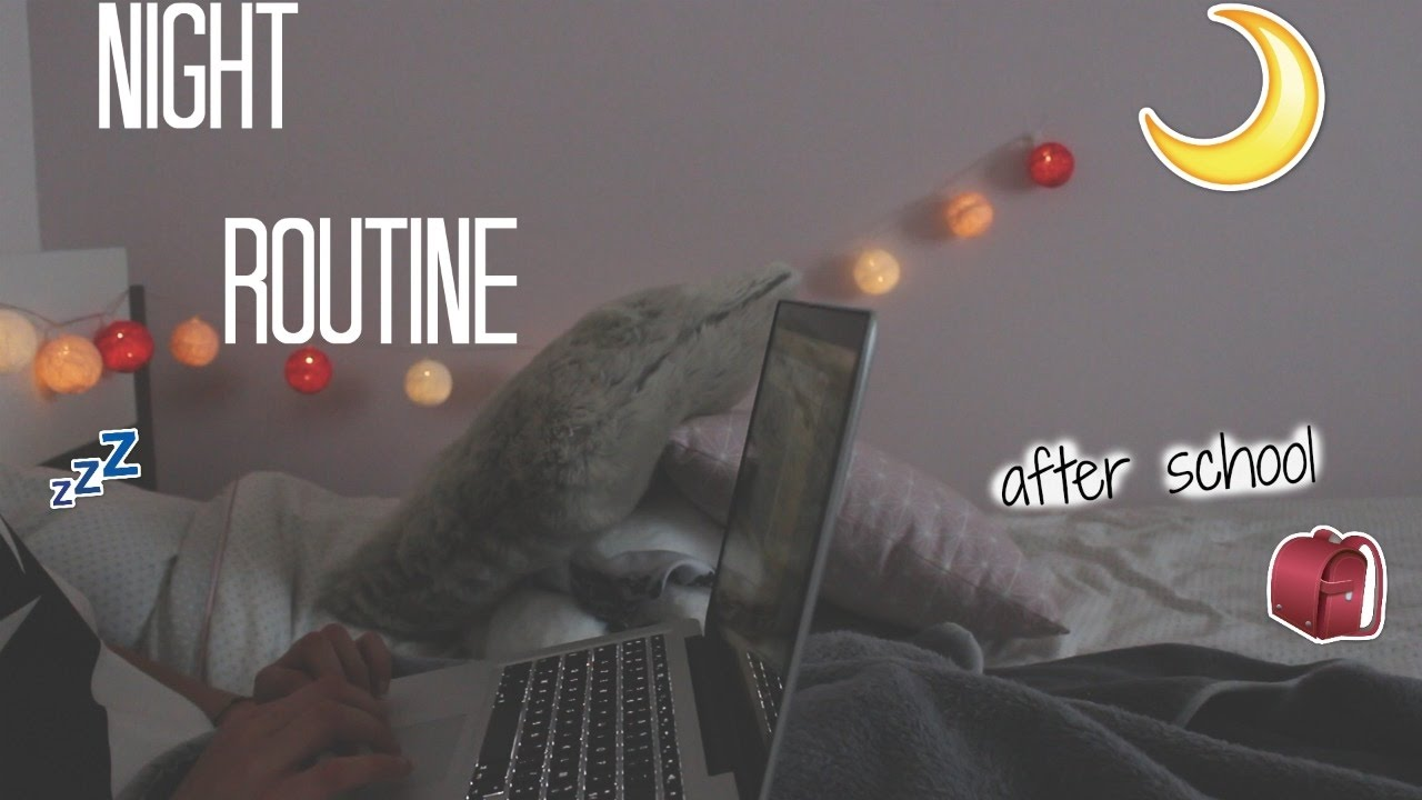 NIGHT ROUTINE 🌙 after school - YouTube