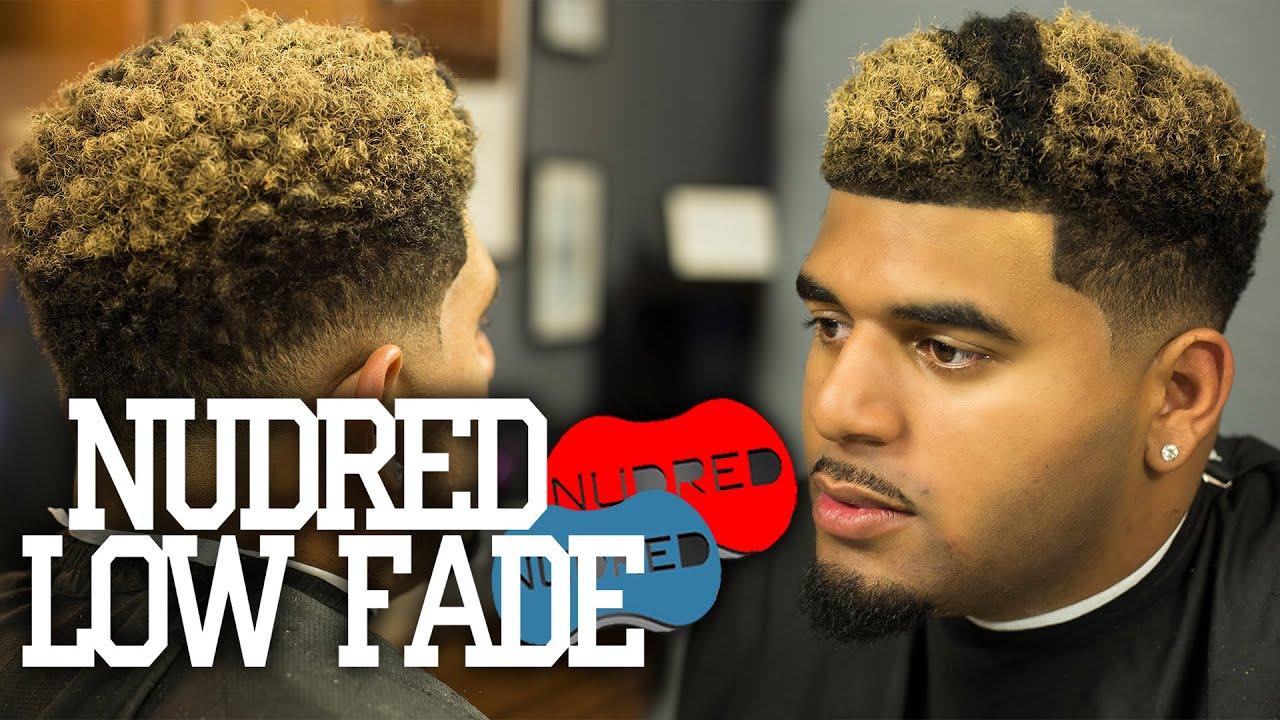 Nudred Curl Sponge Low Fade W Blond Coloring 2018 Bonus