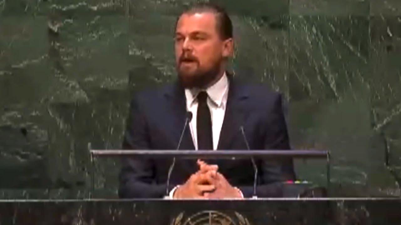 Discorso ONU - Leonardo di Caprio - cambiamenti climatici