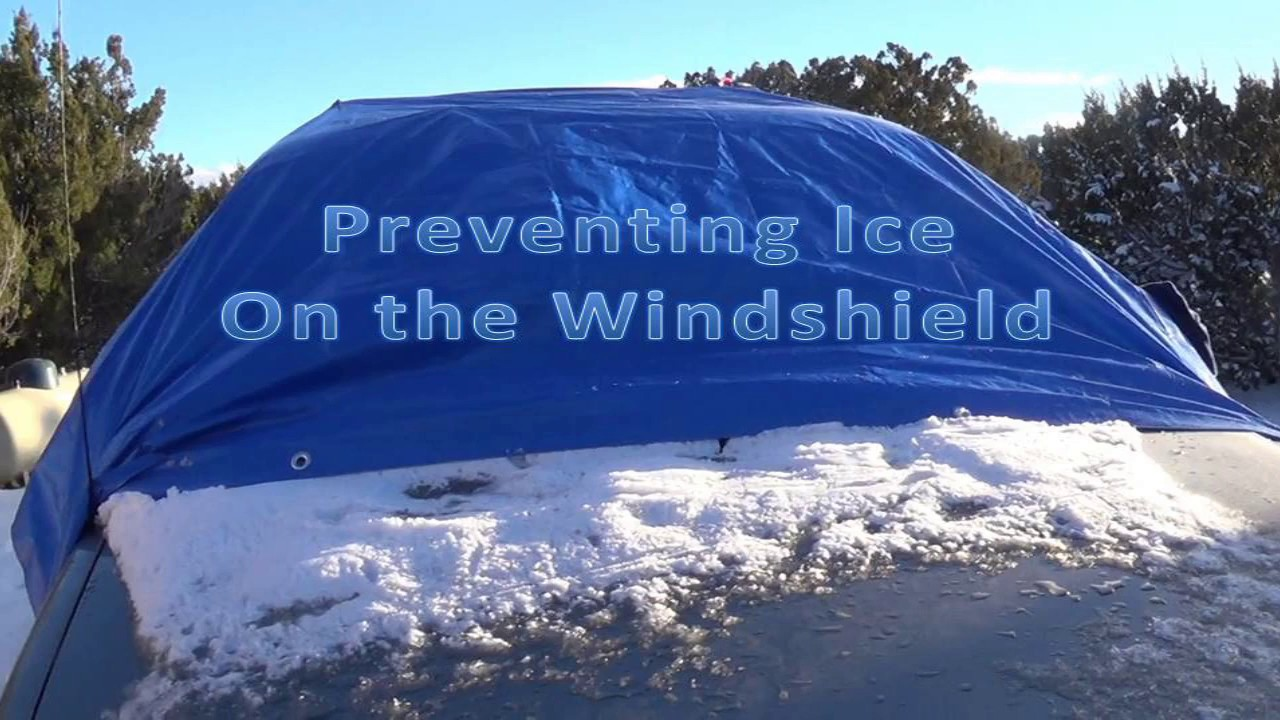 how to prevent ice on windshield